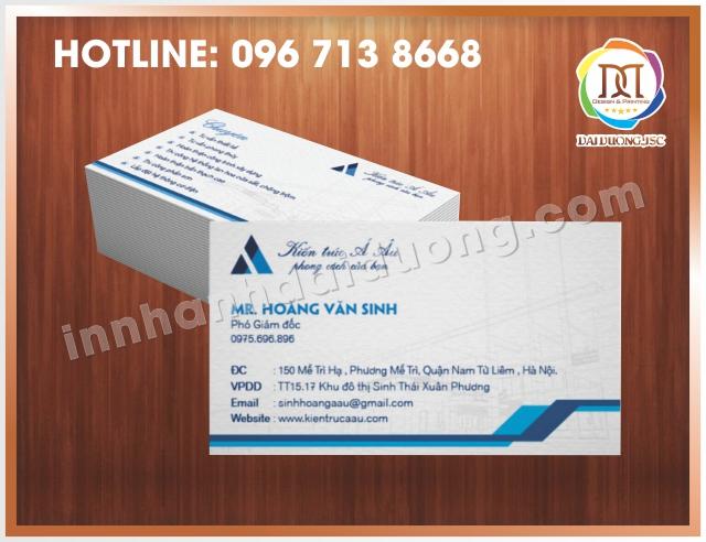 In Card Visit Uy Tin Nhat Tai Thanh Xuan