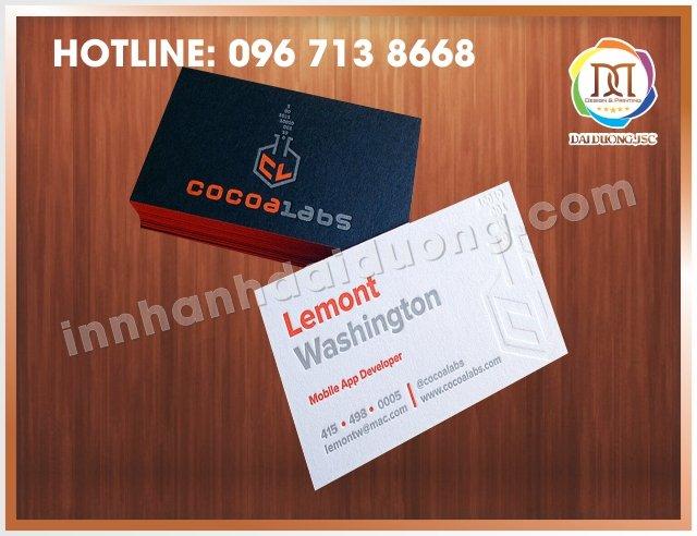 In Card Visit Tai Dong Da