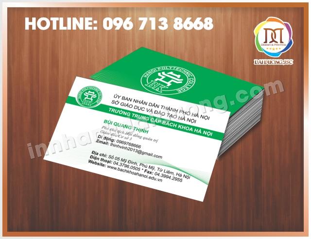 In Card Visit Lay Ngay Tai Dong Da 1