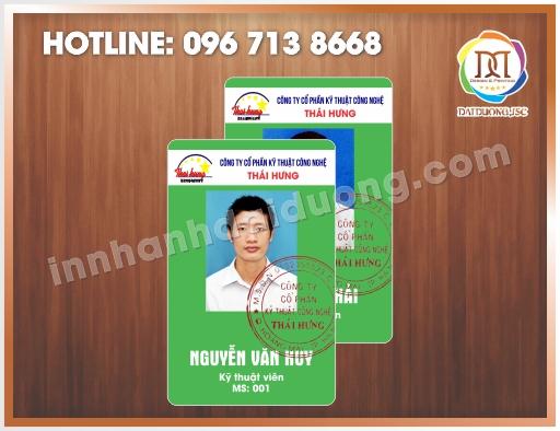 Cơ sở in thẻ nhựa tại Hà Nội