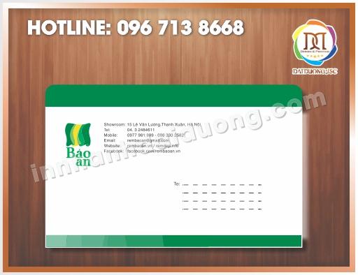 Địa chỉ in phong bì tiêu đề thư giá rẻ tại Hà Nội