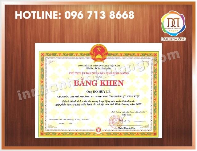 In Bang Khen Giay Khen Lay Ngay Tai Ha Noi 1