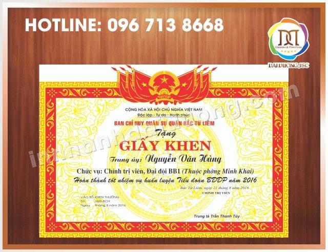 In Giay Khen Lay Ngay Tai Ha Noi