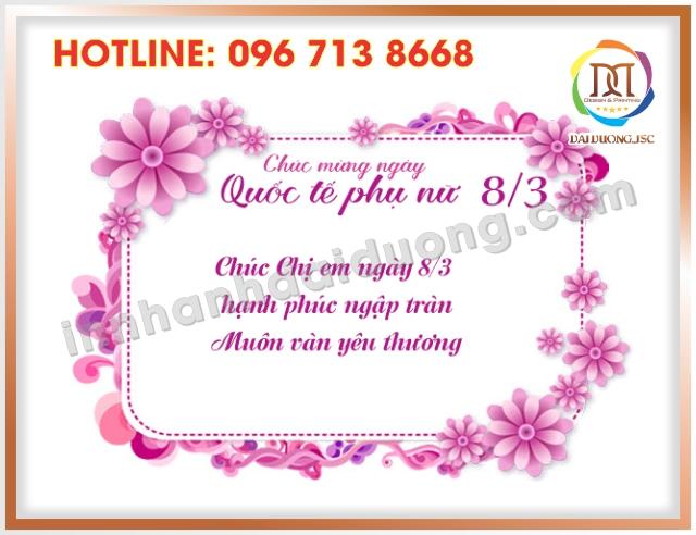 In Thiep Chuc Mung 8 3 Tai Cau Giay