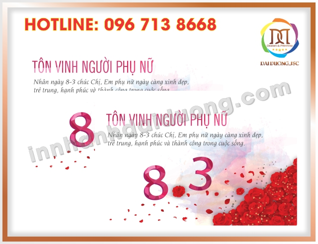 In Thiep Chuc Mung 8 3 Uy Tin Nhat Tai Cau Giay