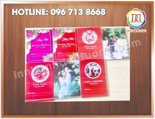 In thiệp cưới giá rẻ tại Hà Nội: