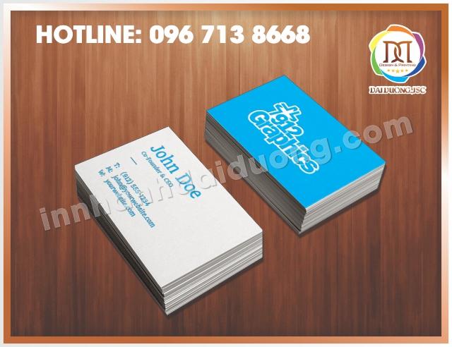 Địa chỉ in card lấy ngay tại Hà Nội