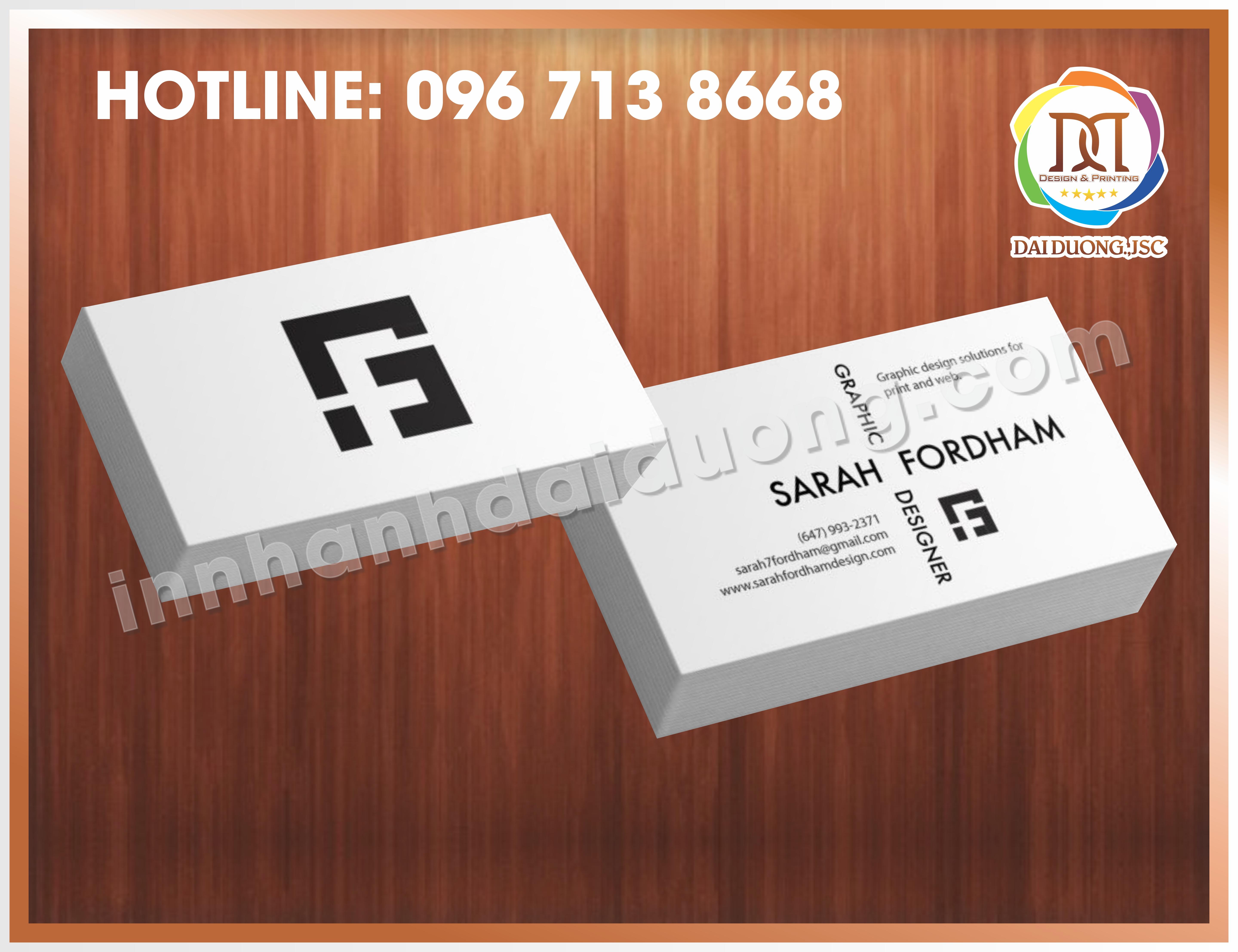 In Card Visit Dep Nhat Tai Thanh Xuan 2