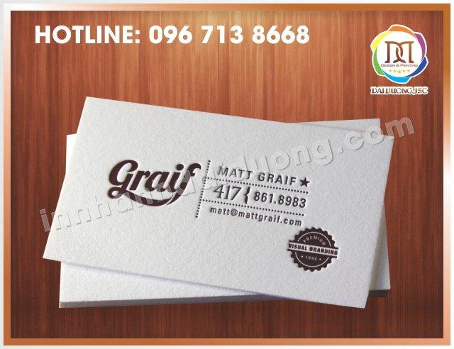 In Card Visit Tai Thanh Xuan