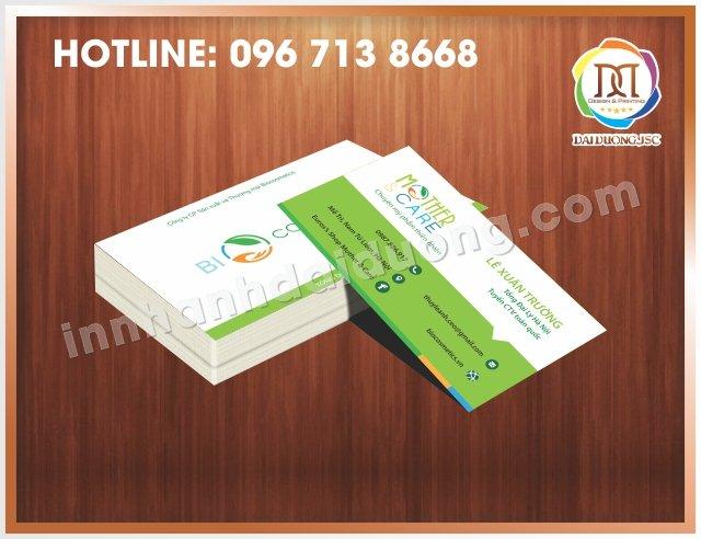 Địa chỉ in card tại cầu giấy