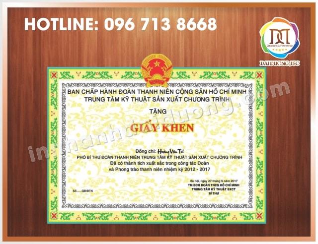 In Bang Khen Giay Khen Lay Ngay Tai Ha Noi 2