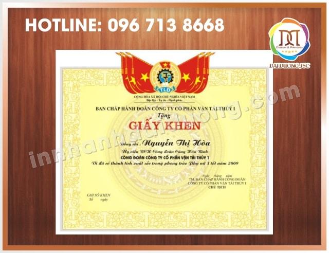 In Bang Khen Giay Khen Lay Ngay
