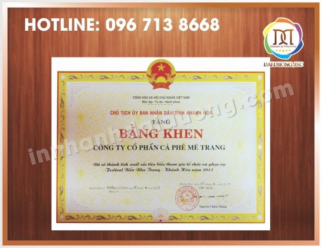 In Bang Khen Giay Khen