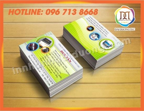 In Card Visit Tai Hai Duong
