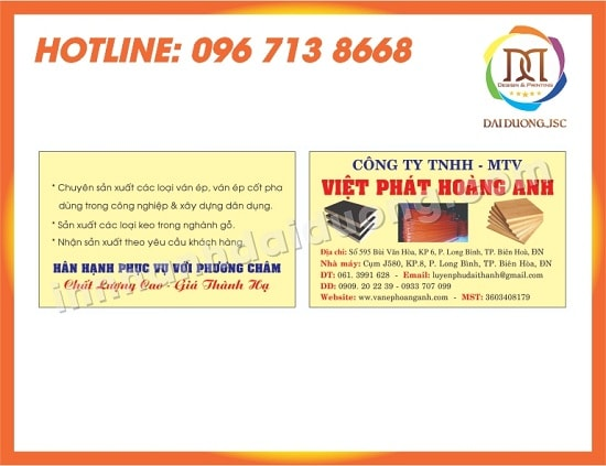 In Card Visit Tai Hai Phong 1