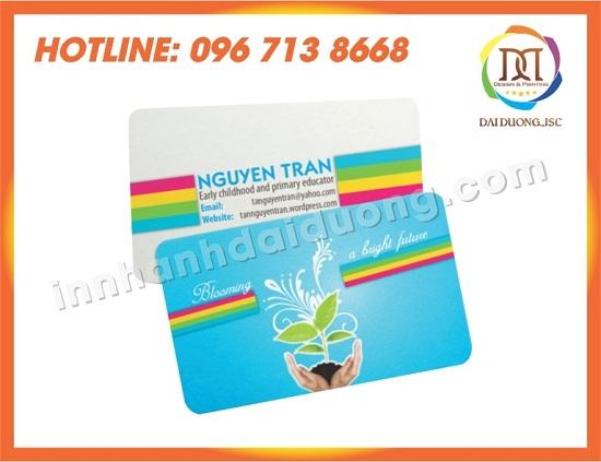 In Card Visit Tai Thai Binh