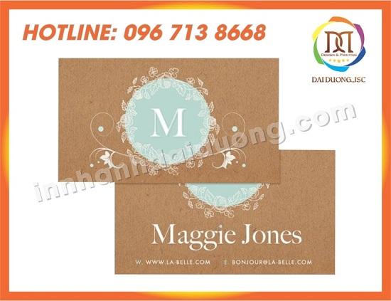 In Name Card Gia Re Tai Hai Phong