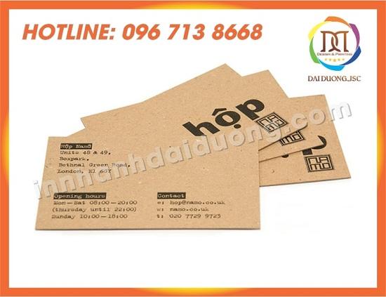 In Name Card Gia Re Tai Phu Tho