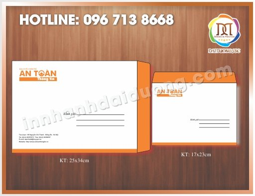Địa chỉ in phong bao tiêu đề thư giá rẻ tại Hà Nội