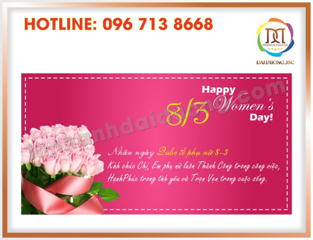 In Thiep Chuc Mung 8 3 Gia Re Nhat Tai Cau Giay 2