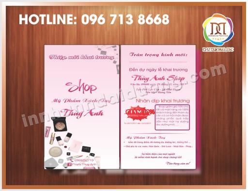 Cơ sở in giấy mời, thiệp mời uy tín giá rẻ